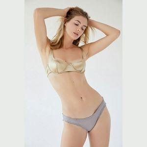 Out From Under Panty Sparkly Mesh Ruffle Bikini